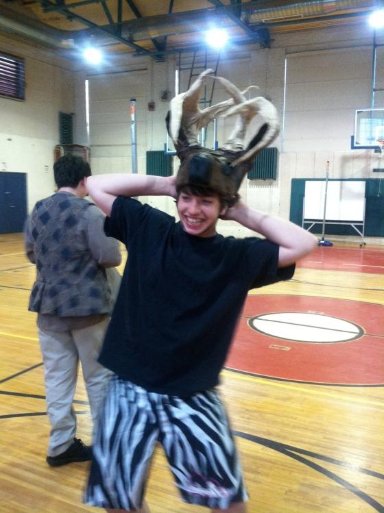 The hunted deer