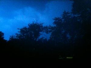 The storm in Abilene, KS
