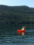 Bonni kayaking