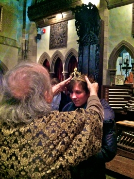 Susanna being crowned at Hammond Castle, MA