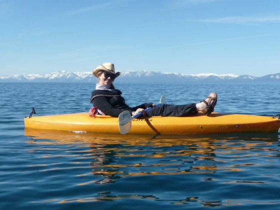 Kayaking on Lake Tahoe, CA