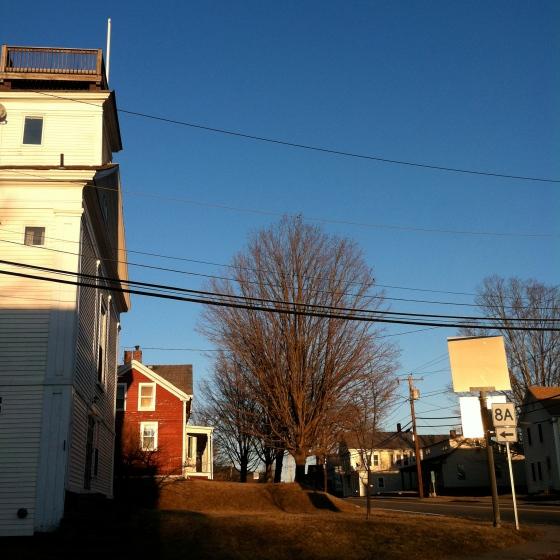 Sunset  road to Massachusetts