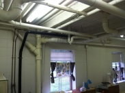 Temporary digs in basement of Larry Hall, ugh!