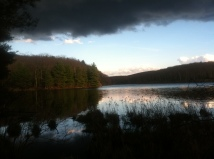 Dusk on Benedict Pond