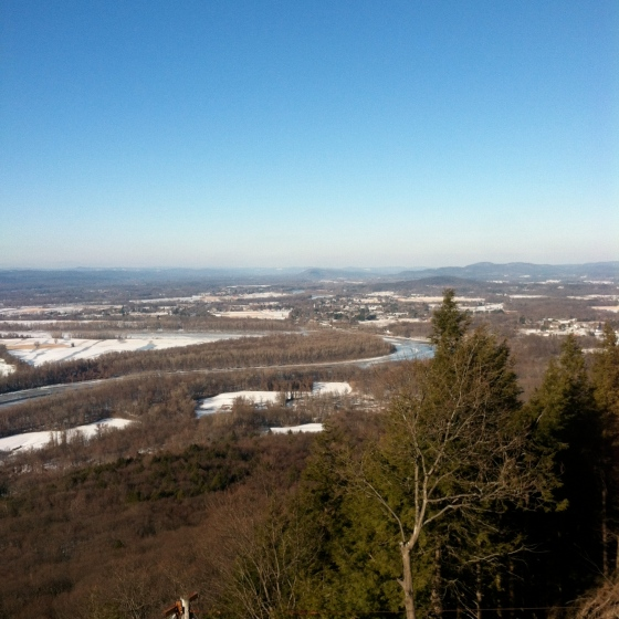 View from the Summit House, Mt Holyoke, MA